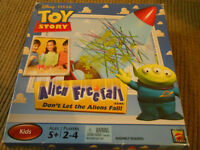 Toy Story Alien Freefall game by Disney Pixar, complete , boxed.