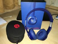 Used Beats By Dr. Dre Solo2 Wireless On Ear Headphones - Blue Boxed