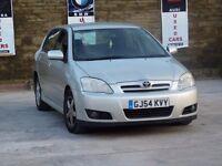 2004 (54) TOYOTA COROLLA 2.0 DESEIL D4D SILVER 5 DOOR 1 KEY MOT BEAUTIFUL CAR CHEAP INSURANCE