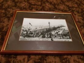 FRAMED PICTURE OF THE BRIGHTON PALACE PIER IN DAYS GONE BY.