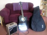 FENDER GUITAR AND AMP.