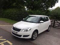 2014 SKODA FABIA 1.2 PETROL WHITE 7222 MILES ONLY CAT D IMMACULATE CONDITION