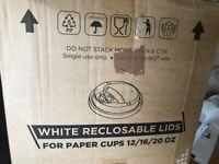 1000 reclosable lids for paper cups 12/16/20oz - new