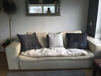 Habitat Leather sofa Bed great for family stay overs good sized double