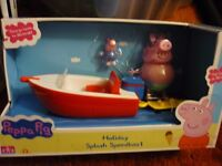 Peppa Pig new and boxed holiday figures and speedboat