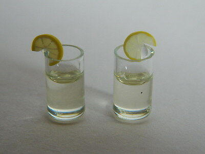 (F24) DOLLS HOUSE DRINKS : TWO GLASSES OF GIN/TONIC