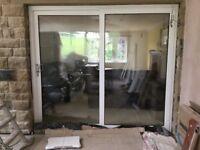 UPVC sliding Patio doors with Argan glass double glazing