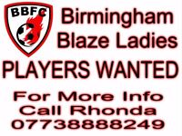 FEMALE PLAYERS WANTED