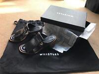 Whistles black fringe mules