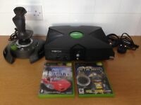 Original Xbox Console Bundle With Thrustmaster Controller Leads And Games