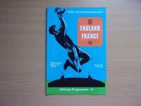 ENGLAND VS. FRANCE. 1969 INTERNATIONAL FOOTBALL PROGRAMME. VERY GOOD CONDITION PROGRAMME.