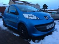 2007 Peugeot 107 1L 3Dr Petrol Manual (1 years MOT) Great Condition