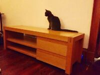 TV Stand Solid Oak good condition