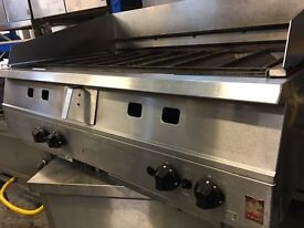 Falcon Chargrill 4 Burners 1.2m , table top grill, peri peri grill, water tray, 20+ grills in stock