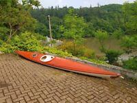 Sea Kayak - BAIDARKA MK1, fibreglass/kevlar, deck lines and rear hatch