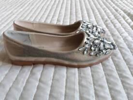 Beautiful Jewelled Shoes. Size 3.