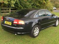 2005 Audi A8 3.0TDi Quattro, Tip Automatic, Sat-nav, metallic black 175,000 motorway miles