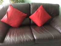 Beautiful red curtains and matching cushions for sale