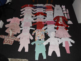 Girls 3-6 Months Clothes Bundle