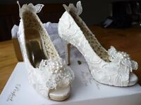 Wedding: Bridal Shoes by 'Perfect Vintage' - Brand New