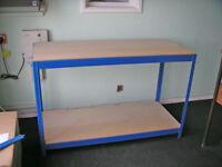 Boltless Chipboard Workbench Table 140cm x 60cm x 90cm