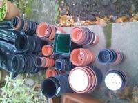 large amount of plastic plant pots & trays