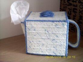 Decorative tissue box covers