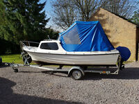 Reduced for quick sale - 16ft Day /Fishing Boat/Cruiser with Galvanised Road Trailer