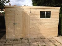 GARDEN PENT SHED /WORKSHOP 10X8 HEAVY DUTY WELL MADE/NOTTINGHAM/DERBY/LINCOLN/HUCKNALL/BULWELL