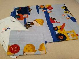 Next toddler / junior digger construction bedding / bed set / quilt / fitted sheet