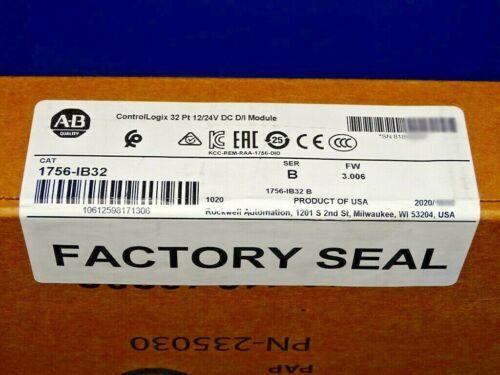 2019 - 2021 FACTORY SEALED Allen Bradley 1756-IB32 /B Input Module ControlLogix