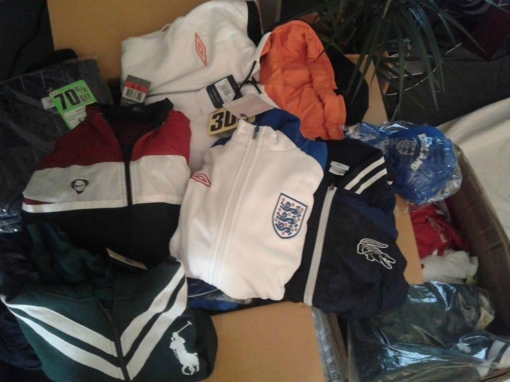 job-lot 75% discount Brand Name Ralph Lauren Lacoste G.Star Jeans, Jackets and Jogging pants