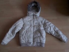 Next Girls cream padded winter jacket