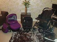 **Silver Cross Pram plus Car Seat, Bag, Raincover* bought as second pram. Excellent condition.