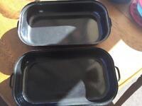 New enamel cooking casserole dish camping saucepan