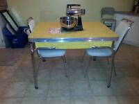 Vintage kitchen table and 2 chairs