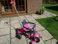 3 in 1 Pink Kids Smart Trike, baby/toddler/child for sale  Linlithgow, West Lothian