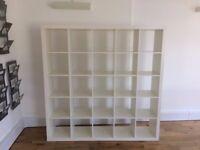 White Ikea KALLAX Shelving Unit 182 By 182 cm Good Condition
