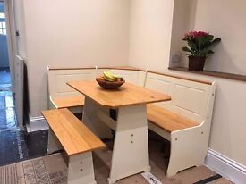 Dining Table With Nook & Corner Bench for Sale