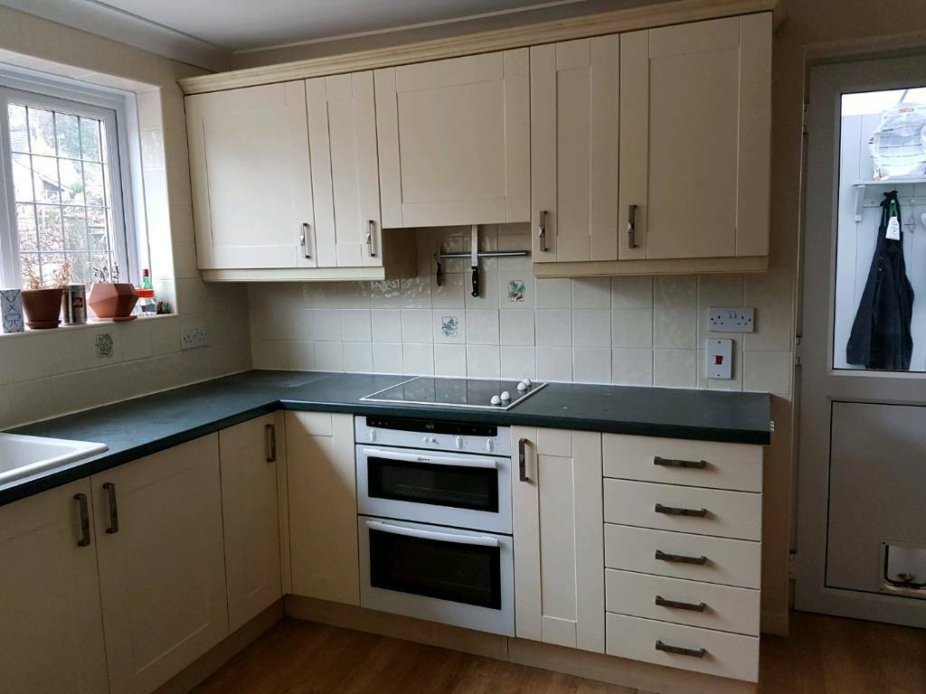 !SOLD! Fitted Kitchen. Units, Sink, Cooker Hood, worktops (for self removal)