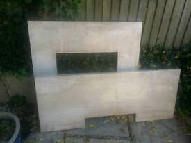 Marble fire place with surround