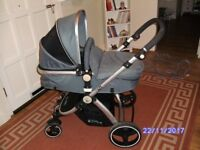 I - Safe System Pram / stroller, from berth to 15kg maximum weight.