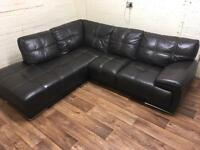 Violino leather corner sofa (free delivery)