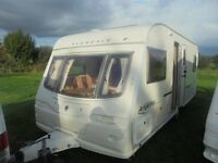 2005 avondale argente 555 4 berth fixed bed with motor mover & awning £3700