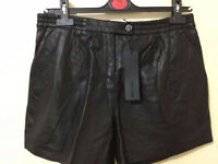Totally new KARL 100% GEUINE leather shorts With tag only £35