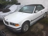 '94 BMW E36 3 series 325i US spec LHD Rolling Project Shell NO ENGINE - Alpine white unregistered