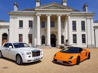 Lamborghini and Rolls Royce Phantom wedding package, Wedding car package, wedding car hire