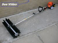 Rotating Sweeper Brush snow blower leaves road path washer lawn leaf blower vacuum vac suction broom
