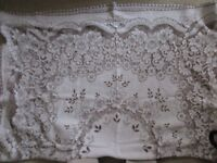 """VERY VERY large rectangular tablecloth 60"""" x 134"""" lovely item and very useful!"""