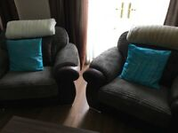 3 Seater Sofa and 2 Cuddles Chairs